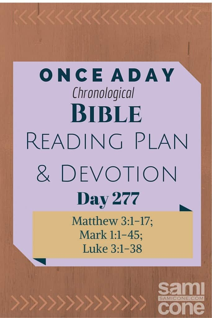 Once A Day Bible Reading Plan & Devotion Day 277