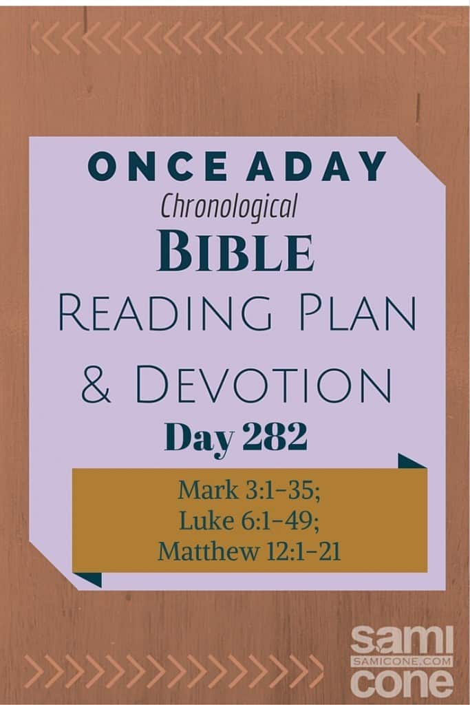 Once A Day Bible Reading Plan & Devotion Day 282Once A Day Bible Reading Plan & Devotion Day 282