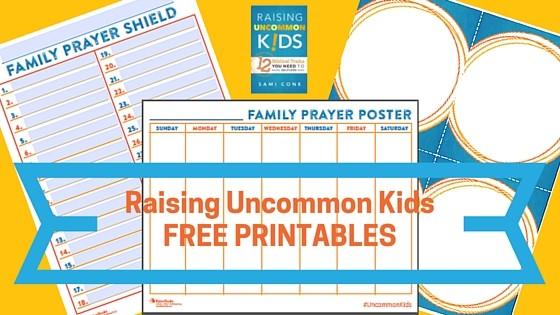 raising uncommon kids free printables