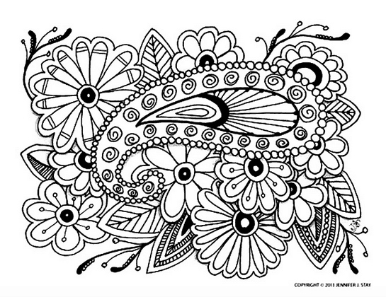 free adult coloring page printable for stress free living
