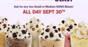 Sonic Half Price Blast Deal September 30