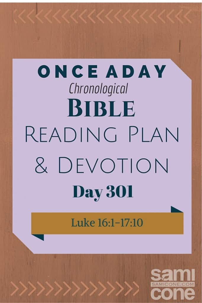 Once A Day Bible Reading Plan & Devotion Day 301