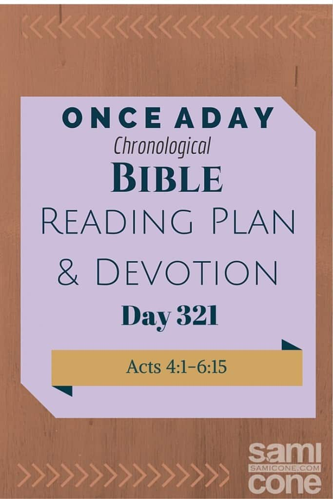Once A Day Bible Reading Plan & Devotion Day 321