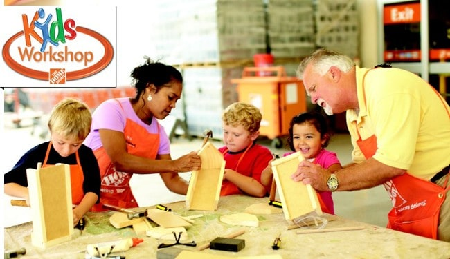 Home Depot Free Kids Workshop 2016 Schedule