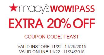 Macys Printable Savings Pass November 2015