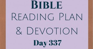 Once A Day Bible Reading Plan & Devotion Day 337