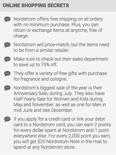 Nordstrom Shopping Tips