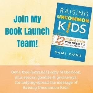 book launch team raising uncommon kids