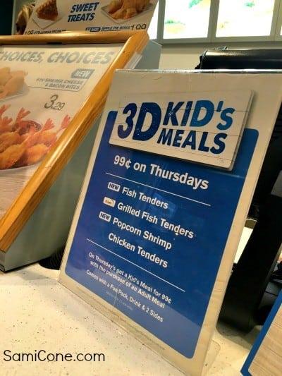 Captain Ds Kids Meals Thursday 99