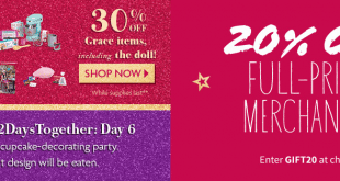 American Girl Daily Deals December 2015