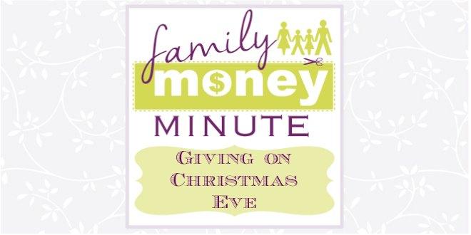 Giving on Christmas Eve