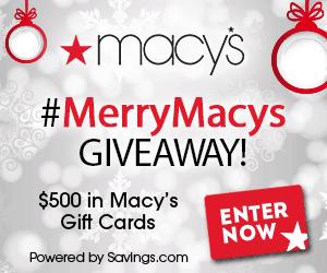 Macys Giveaway 10 Win a $50 Giftcard! #MerryMacys