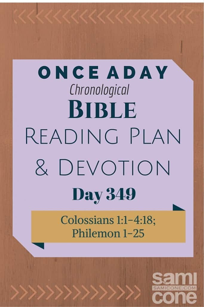 Once A Day Bible Reading Plan & Devotion Day 349