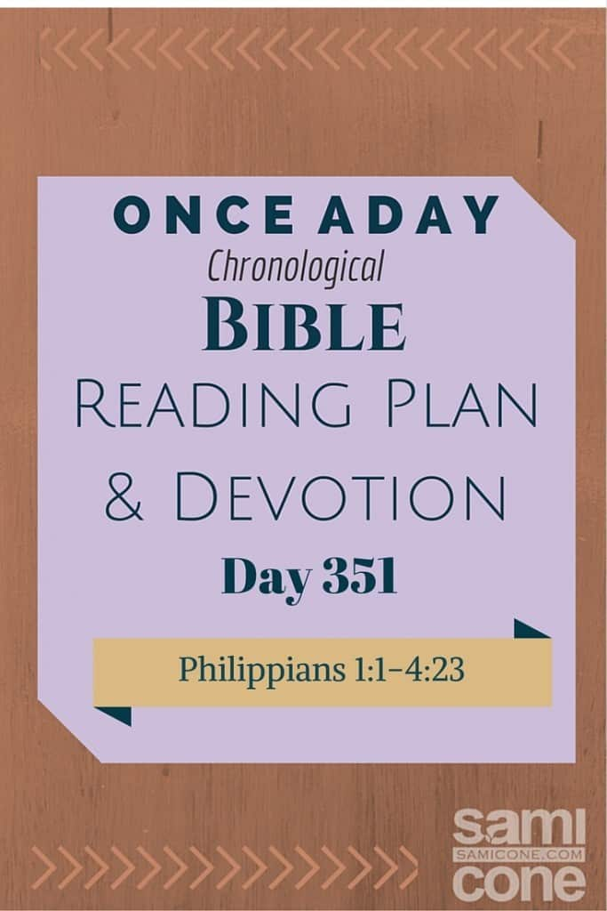 Once A Day Bible Reading Plan & Devotion Day 351