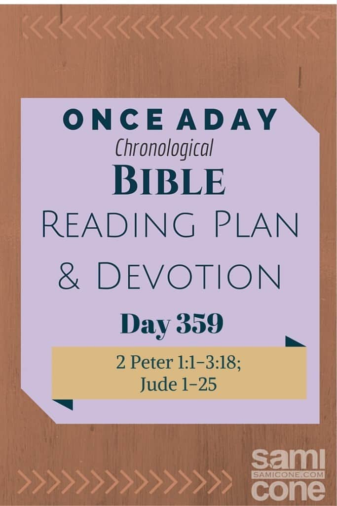 Once A Day Bible Reading Plan & Devotion Day 359