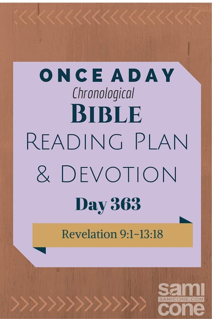 Once A Day Bible Reading Plan & Devotion Day 363