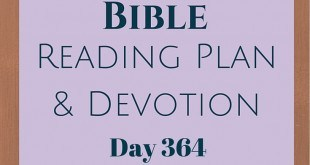 Once A Day Bible Reading Plan & Devotion Day 364