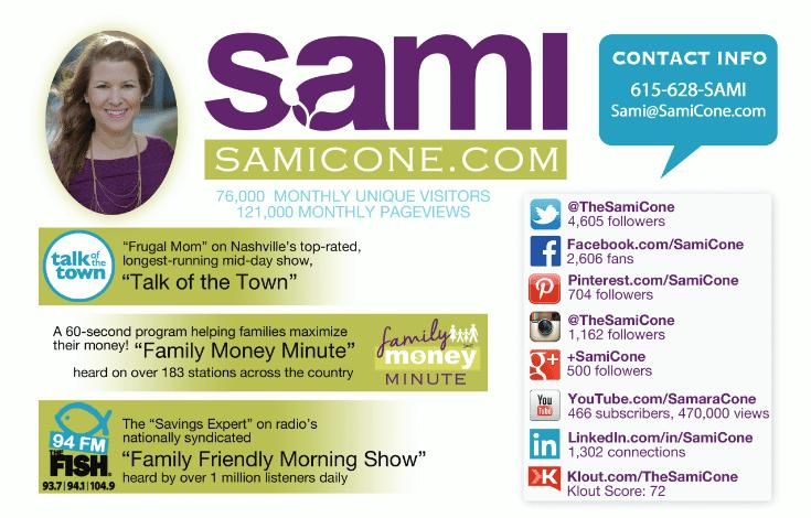 Sami Cone Media Kit 2015