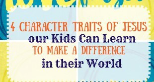4 character traits of jesus for kids
