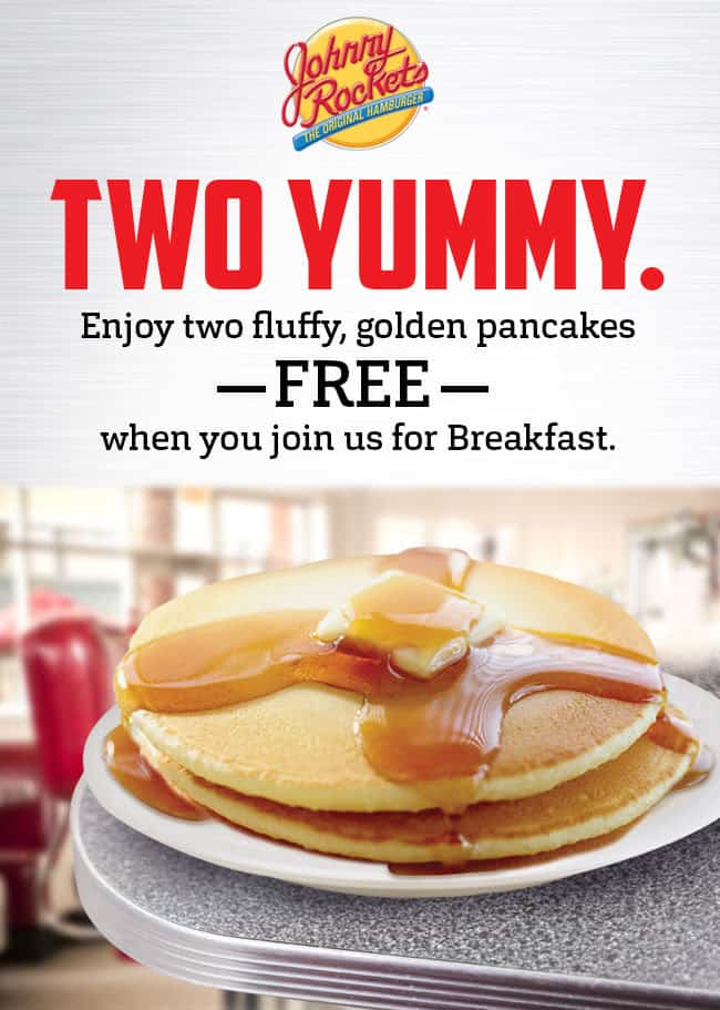 Free Johnny Rockets Pancakes