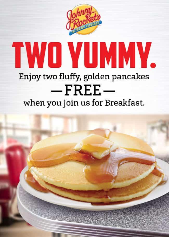 Free Johnny Rockets Pancakes