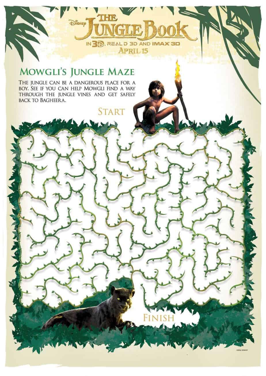 Disney's Jungle Book Free Activity Sheets