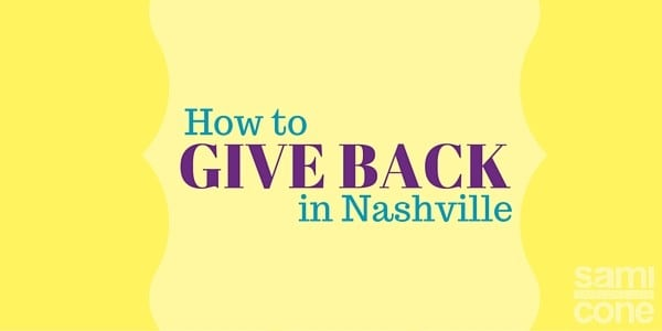 give back nashville volunteer