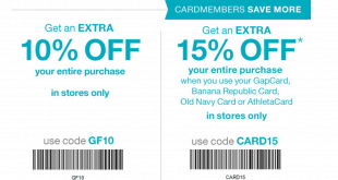 Gap Outlet Printable Coupon May 2016