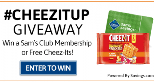 #CHEEZITUP & Sams Club Giveaway