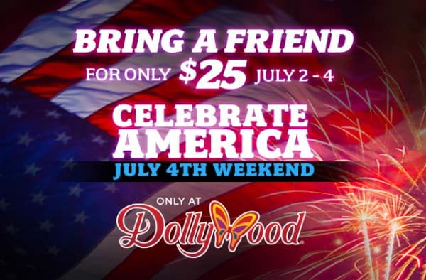 Dollywood Ticket Sale for 4th of July