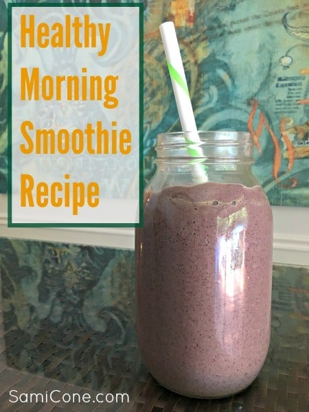 healthy morning smoothie recipe