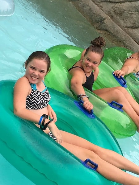 Dollywood's Splash Country kariss and carly lazy river