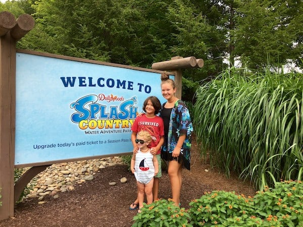 Dollywood's Splash Country welcome cone kids