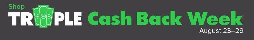 EBates Triple Cash Back Week