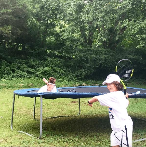 kariss trampoline britton tennis