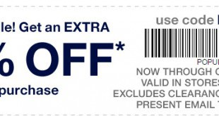 Gap Outlet Printable Coupon October 2016