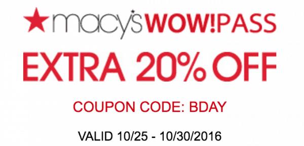 Macys Printable Savings Pass October 2016
