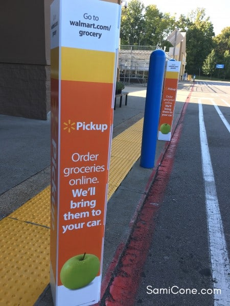 walmart online grocery pickup signage store