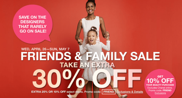 Macys Friends and Family Sale Dates 2017
