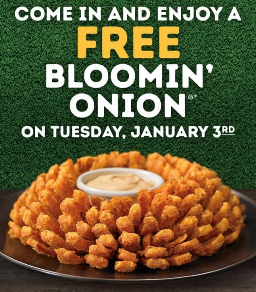 Free Outback Appetizer January 3, 2017