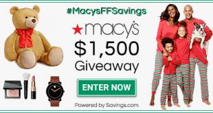 Macys Giveaway- 15 Win a $100 Giftcard! #MACYSFFSAVINGS
