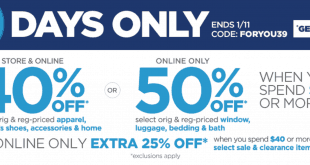 JCPenney Friends and Family Sale Dates 2017
