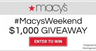 Macys Giveaway- 20 Win a $50 Giftcard! #MACYSWEEKEND GIVEAWAY