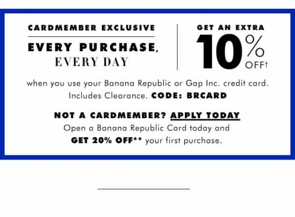 Printable Banana Republic Outlet Coupon October 2017 | Sami Cone