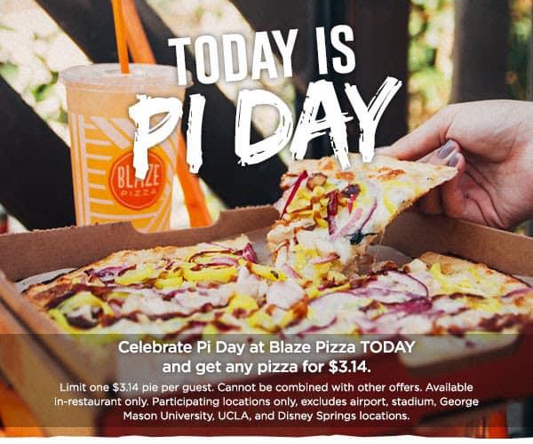 Pi Day Deal- Blaze Pizza