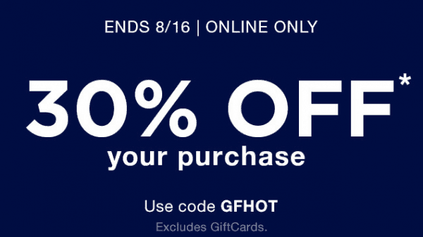 Printable Gap Factory Coupon August 2017
