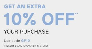 Gap Outlet Printable Coupon October 2017