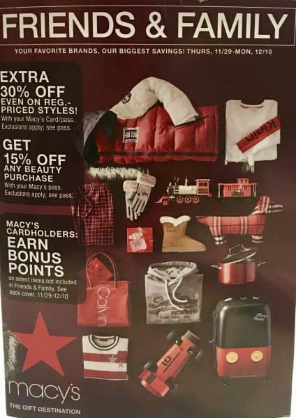 1bc9ad2cca0 An example of a past Macy s Friends and Family Sale flyer with coupons and  discount code