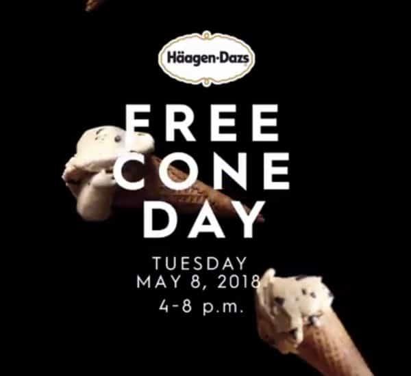 Häagen-Dazs's Free Cone Day May 8, 2018