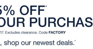 Gap Outlet Printable Coupon June 2018